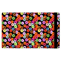 Colorful Yummy Donuts Pattern Apple Ipad 3/4 Flip Case by EDDArt