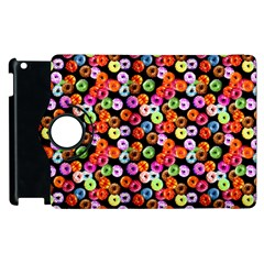 Colorful Yummy Donuts Pattern Apple Ipad 3/4 Flip 360 Case by EDDArt