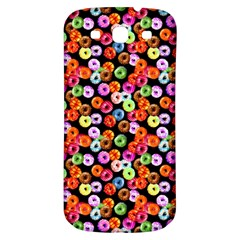 Colorful Yummy Donuts Pattern Samsung Galaxy S3 S Iii Classic Hardshell Back Case by EDDArt