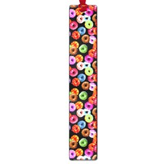 Colorful Yummy Donuts Pattern Large Book Marks by EDDArt
