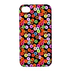 Colorful Yummy Donuts Pattern Apple Iphone 4/4s Hardshell Case With Stand by EDDArt