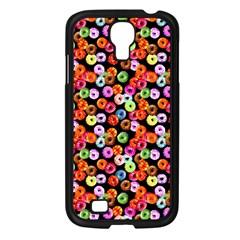 Colorful Yummy Donuts Pattern Samsung Galaxy S4 I9500/ I9505 Case (black) by EDDArt