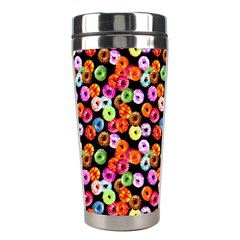 Colorful Yummy Donuts Pattern Stainless Steel Travel Tumblers by EDDArt