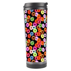 Colorful Yummy Donuts Pattern Travel Tumbler by EDDArt