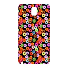 Colorful Yummy Donuts Pattern Samsung Galaxy Note 3 N9005 Hardshell Back Case by EDDArt