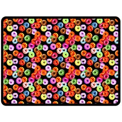 Colorful Yummy Donuts Pattern Double Sided Fleece Blanket (large)  by EDDArt