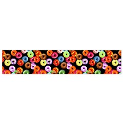 Colorful Yummy Donuts Pattern Flano Scarf (small) by EDDArt