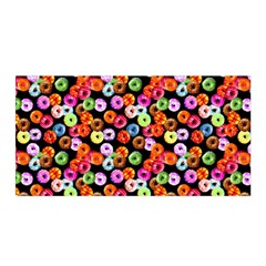 Colorful Yummy Donuts Pattern Satin Wrap by EDDArt