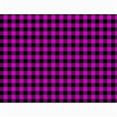 Lumberjack Fabric Pattern Pink Black Canvas 12  X 16   by EDDArt