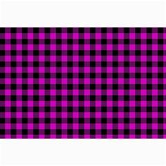 Lumberjack Fabric Pattern Pink Black Canvas 12  X 18   by EDDArt