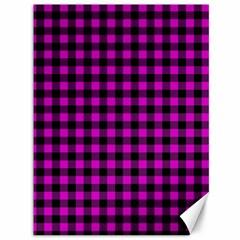 Lumberjack Fabric Pattern Pink Black Canvas 36  X 48   by EDDArt