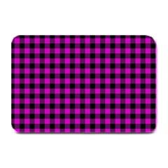Lumberjack Fabric Pattern Pink Black Plate Mats by EDDArt
