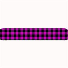 Lumberjack Fabric Pattern Pink Black Small Bar Mats by EDDArt
