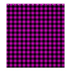 Lumberjack Fabric Pattern Pink Black Shower Curtain 66  X 72  (large)  by EDDArt