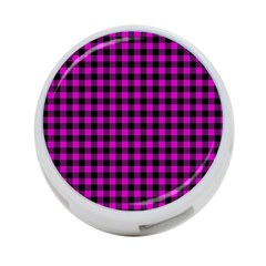 Lumberjack Fabric Pattern Pink Black 4 Port Usb Hub (two Sides)  by EDDArt