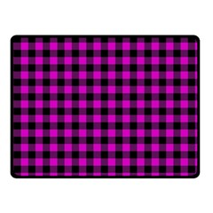 Lumberjack Fabric Pattern Pink Black Fleece Blanket (small) by EDDArt