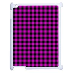 Lumberjack Fabric Pattern Pink Black Apple Ipad 2 Case (white) by EDDArt