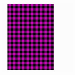 Lumberjack Fabric Pattern Pink Black Large Garden Flag (two Sides) by EDDArt