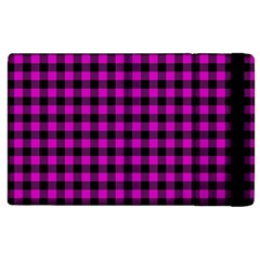 Lumberjack Fabric Pattern Pink Black Apple Ipad 3/4 Flip Case by EDDArt