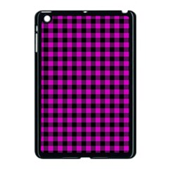 Lumberjack Fabric Pattern Pink Black Apple Ipad Mini Case (black) by EDDArt