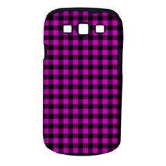 Lumberjack Fabric Pattern Pink Black Samsung Galaxy S Iii Classic Hardshell Case (pc+silicone) by EDDArt