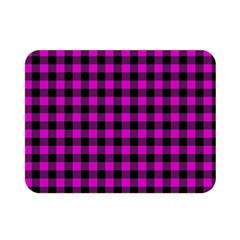 Lumberjack Fabric Pattern Pink Black Double Sided Flano Blanket (mini)  by EDDArt