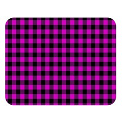 Lumberjack Fabric Pattern Pink Black Double Sided Flano Blanket (large)  by EDDArt