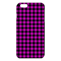 Lumberjack Fabric Pattern Pink Black Iphone 6 Plus/6s Plus Tpu Case by EDDArt