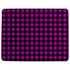 Lumberjack Fabric Pattern Pink Black Jigsaw Puzzle Photo Stand (rectangular) by EDDArt