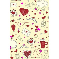 Valentinstag Love Hearts Pattern Red Yellow 5 5  X 8 5  Notebooks by EDDArt