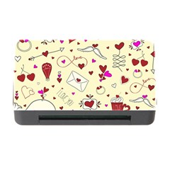 Valentinstag Love Hearts Pattern Red Yellow Memory Card Reader With Cf by EDDArt