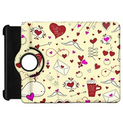Valentinstag Love Hearts Pattern Red Yellow Kindle Fire Hd 7  by EDDArt
