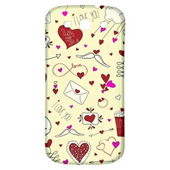 Valentinstag Love Hearts Pattern Red Yellow Samsung Galaxy S3 S Iii Classic Hardshell Back Case by EDDArt