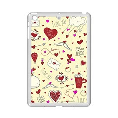 Valentinstag Love Hearts Pattern Red Yellow Ipad Mini 2 Enamel Coated Cases by EDDArt