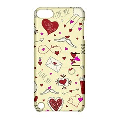 Valentinstag Love Hearts Pattern Red Yellow Apple Ipod Touch 5 Hardshell Case With Stand by EDDArt