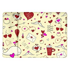 Valentinstag Love Hearts Pattern Red Yellow Samsung Galaxy Tab 10 1  P7500 Flip Case by EDDArt