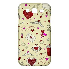 Valentinstag Love Hearts Pattern Red Yellow Samsung Galaxy Mega 5 8 I9152 Hardshell Case  by EDDArt