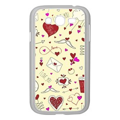 Valentinstag Love Hearts Pattern Red Yellow Samsung Galaxy Grand Duos I9082 Case (white) by EDDArt
