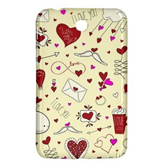 Valentinstag Love Hearts Pattern Red Yellow Samsung Galaxy Tab 3 (7 ) P3200 Hardshell Case  by EDDArt