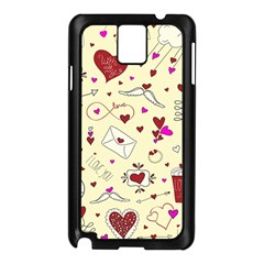 Valentinstag Love Hearts Pattern Red Yellow Samsung Galaxy Note 3 N9005 Case (black) by EDDArt