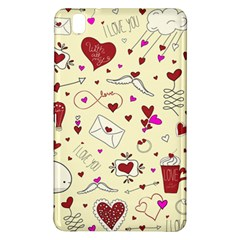 Valentinstag Love Hearts Pattern Red Yellow Samsung Galaxy Tab Pro 8 4 Hardshell Case by EDDArt