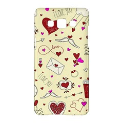Valentinstag Love Hearts Pattern Red Yellow Samsung Galaxy A5 Hardshell Case  by EDDArt