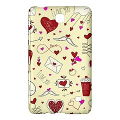 Valentinstag Love Hearts Pattern Red Yellow Samsung Galaxy Tab 4 (8 ) Hardshell Case  by EDDArt