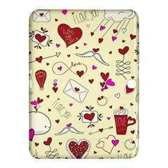 Valentinstag Love Hearts Pattern Red Yellow Samsung Galaxy Tab 4 (10 1 ) Hardshell Case  by EDDArt