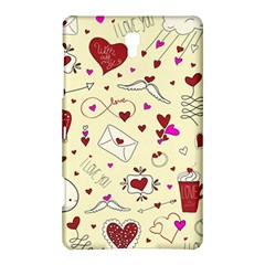 Valentinstag Love Hearts Pattern Red Yellow Samsung Galaxy Tab S (8 4 ) Hardshell Case  by EDDArt