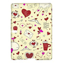 Valentinstag Love Hearts Pattern Red Yellow Samsung Galaxy Tab S (10 5 ) Hardshell Case  by EDDArt