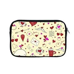 Valentinstag Love Hearts Pattern Red Yellow Apple Macbook Pro 13  Zipper Case by EDDArt