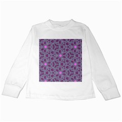 Floral Pattern Kids Long Sleeve T Shirts by Valentinaart