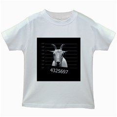 Criminal Goat  Kids White T Shirts by Valentinaart