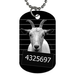 Criminal Goat  Dog Tag (two Sides) by Valentinaart